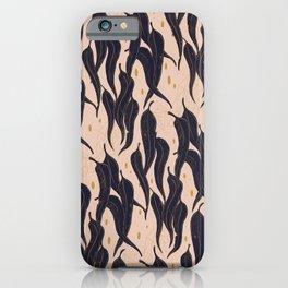 Distressed modern vintage Eucalyptus leaves pattern iPhone Case