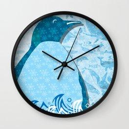 Penguin: Love Wall Clock