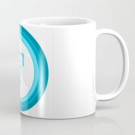 Blue letter F Coffee Mug