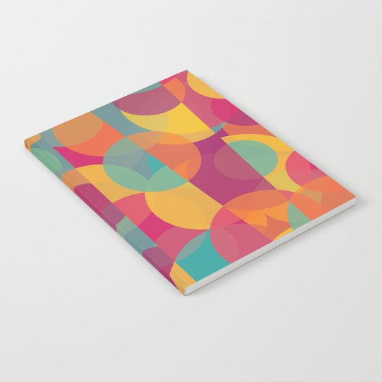 Abstract Circle Pattern - Colorful Dream Notebook