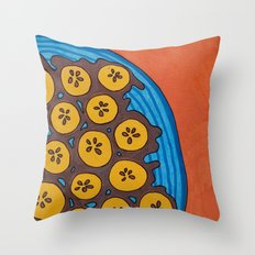 fried plantains Throw Pillow