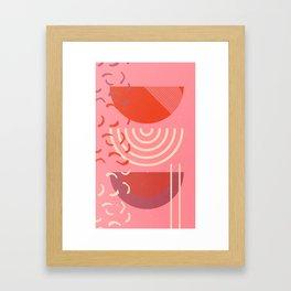 red moons Framed Art Print