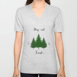 Stay out of the Forest-MFM Unisex V-Neck