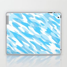 Blue and white Camo anstract Laptop & iPad Skin