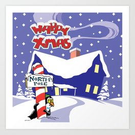 Christmas in North Pole Art Print