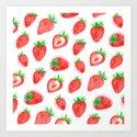Watercolour Strawberries by ornaart