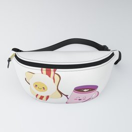 BFF Fun Eggs & Coffee with Bacon & Toast Fanny Pack
