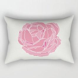 Minimal Pink Rose Rectangular Pillow