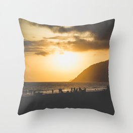 Ipanema Sunset Throw Pillow