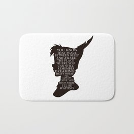 Peter Pan Quote - That Place Bath Mat