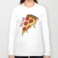 pizza Long Sleeve T-shirts featuring Pizza by jeff'walker