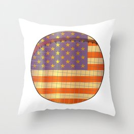 Tennis Stars And Stripes Throw Pillow