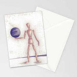 Man With A Globe Stationery Cards