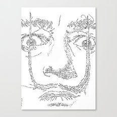 Salvador Dalì WordsPortrait Canvas Print
