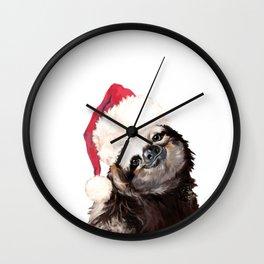 Christmas Sloth Wall Clock