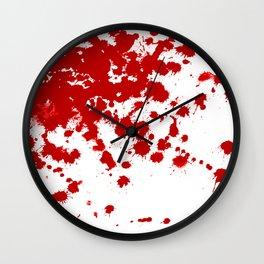 Red Splatter Wall Clock