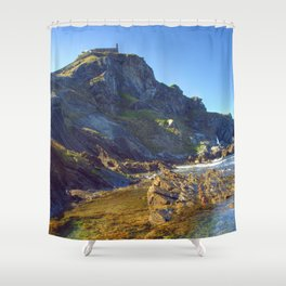 San Juan de Gastelugatxe Shower Curtain