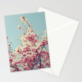 Retro Blossoms Stationery Cards