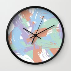Pastel Paint Wall Clock