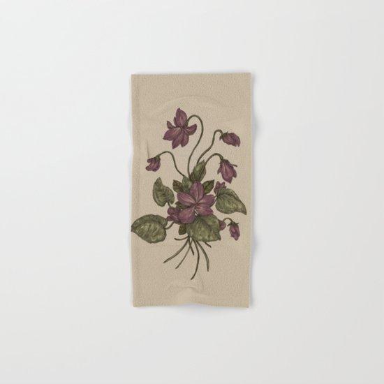 Violets Hand & Bath Towel