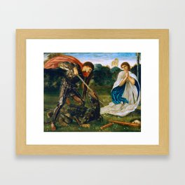 St George kills the dragon VI by Edward Burne-Jones. Framed Art Print