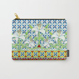 Extravagant Elizabethan Folkloric Lily Carry-All Pouch