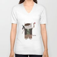 daryl dixon V-neck T-shirts featuring Daryl Dixon the Cat by The Cat