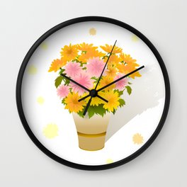 Bouquet of asters Wall Clock