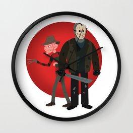 Freddy and Jason Wall Clock