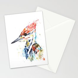 Woodpecker Colorful Watercolor Bird Painting Stationery Cards