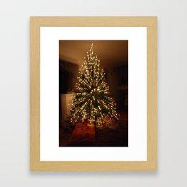 Christmas Tree - Small Explosion Framed Art Print