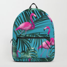 Tropical Flamingo Pattern #4 #tropical #decor #art #society6 Backpack