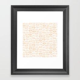 Bicycle Pattern Framed Art Print