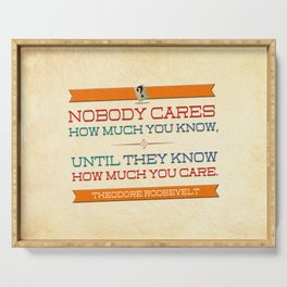 How Much You Care Serving Tray