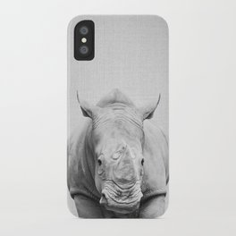 Rhino 2 - Black & White iPhone Case