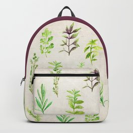 Watercolor Herbs Backpack