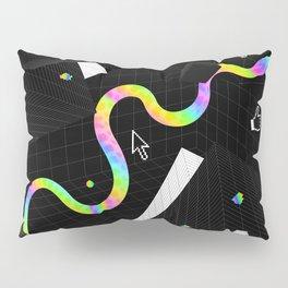 Glitchy Pixelated Snake Pillow Sham