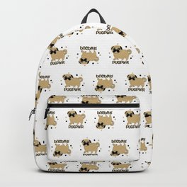 Pugs and kisses pug pwr Backpack