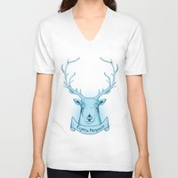 harry potter V-neck T-shirts featuring Expecto Patronum- Harry Potter by Manfred Maroto