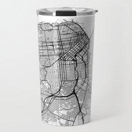 San Francisco Map White Travel Mug