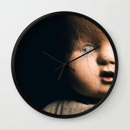 Antique Doll Wall Clock