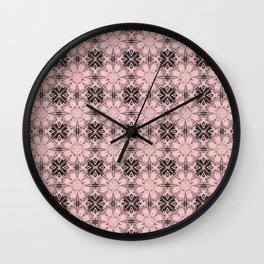 Rose Quartz Floral Geometric Wall Clock