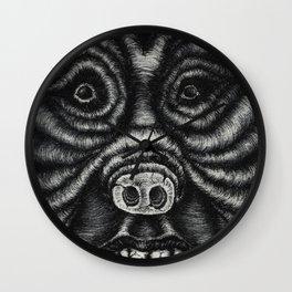 Pig Human Wall Clock