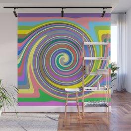 Rainbow swirl pattern Wall Mural