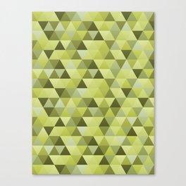 Geometric in Endive Canvas Print