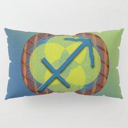 SAGITTARIUS Flower of Life Astrology Design Pillow Sham