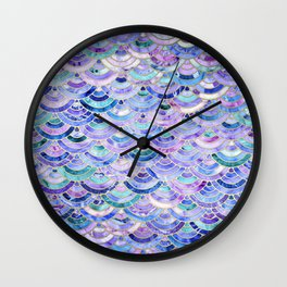 Marble Mosaic in Amethyst and Lapis Lazuli Wall Clock