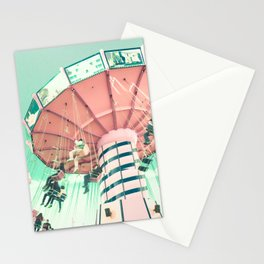 Nursery pink carousel Stationery Cards
