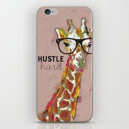 Hustle Hard Giraffe iPhone Skin