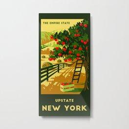 Upstate NY Towel Metal Print